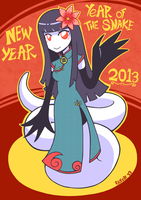Chinese New Year 2013 - Year of the Snake by Rickz0r