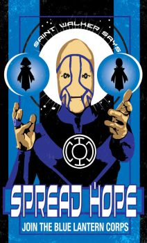 Blue Lantern Corps Poster by Heartattackjack