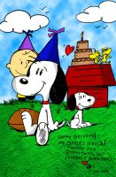 Snoopy-Schulz Birthday Card by spongefox