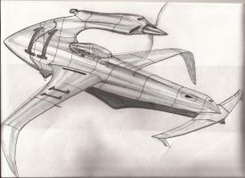 fictional schneider cup raceing seaplane by scifieart10000