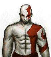 Kratos the God of War by DioMahesa