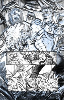 First Law of Mad Science Issue 7 pencils by cronevald