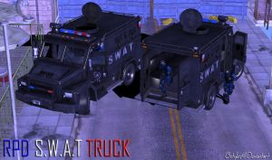 100% Pose-able SWAT Truck (Re-Updated) by bstylez
