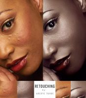Retouch of -The Black Lady by BABA-T
