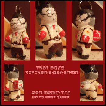 Keychain-a-day: Red Medic by professorhojo