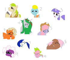 Crappy Recolor Adopts by TargetGirl