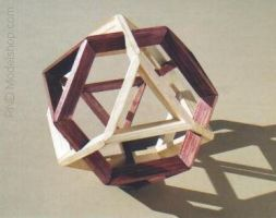 Dual Truncated Tetrahedron by RNDmodels