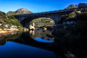 Bridge and river by JussyD