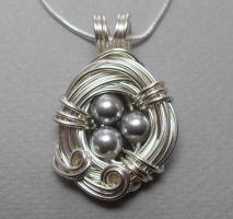 A Nest Adorned - Silver by sojourncuriosities