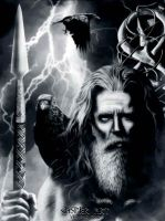Odin, The Allfather by thecasperart