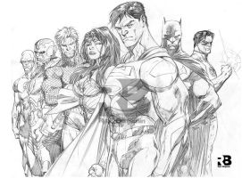 JLA-pencils by ryanbnjmn