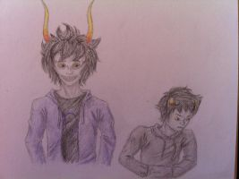 Gamzee and Karkat by Funny-horsey