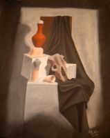 Charcoal Still Life by Zorias