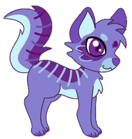 Purple-dog pagedoll for xxReshiramxx by anineko