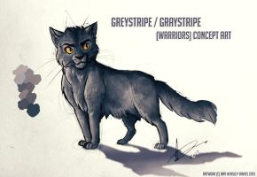 Graystripe / Greystripe - Warrior Cats Concept Art by AmyVsTheWorld