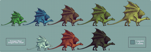 Evergen Pernese Dragon Chart by harrie5