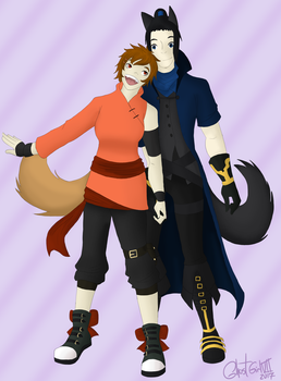 .:RQ:. Tori and Kaze by GhostGirlVII