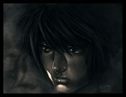 DEATHNOTE-- Face of L by DarkChildx2k