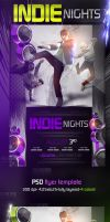 Indie Nights Music Flyer Templates by ImperialFlyers