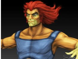 Lion-O Zbrush Rough Color Test by FoxHound1984