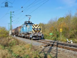460 018 with a freight train by morpheus880223