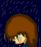 Cry in the rain by Voregirl