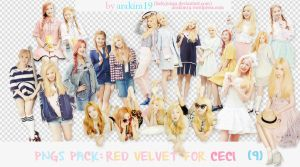 [PNGS PACK] Red Velvet for CECI Magazine by babyjung2