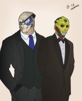 Garrus and Thane by Autumn-Sacura