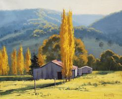Autumn Farm, Tarana Australia by artsaus