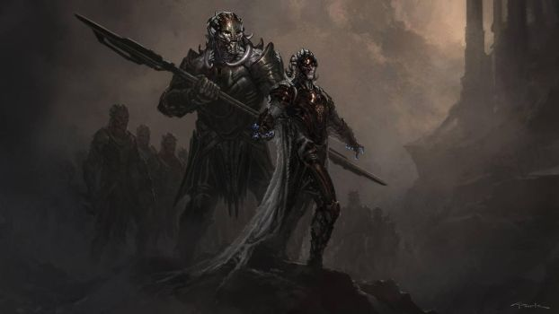 Thor: The Dark World- Malekith and Algrim by andyparkart