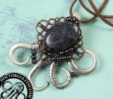 Laboradorite Fork Pendant by Doctor-Gus