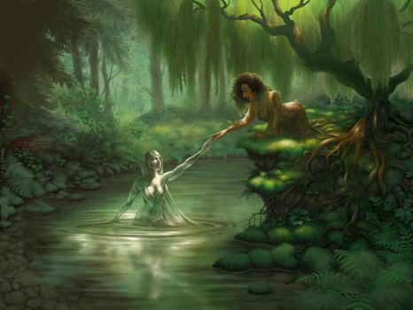 The Dryad and the Naiad by Petrichora
