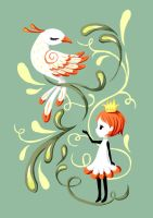 Princess and a Bird by freeminds