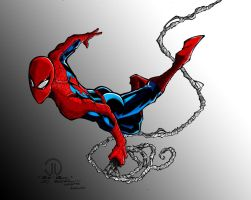 Spidey Swinging Colors by ConstantM0tion