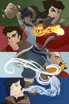 Korra: The Four Elements by Nyurt