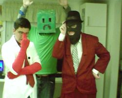 tf2 cosplay- spy, medic, and creeper by LRpaul
