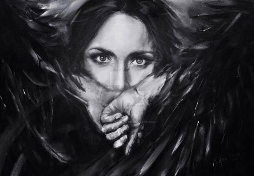 FEAR by Jozefina Litwin | acrylic on canvas by JozefinaLitwin