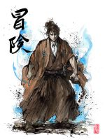Doctor Who samurai with calligraphy by MyCKs
