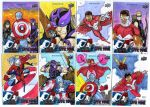 Captain America civil war official cards by mdavidct