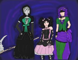 Hansel-Soho contest entry- The Doom sisters by IllyDragonfly
