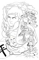 Legend of Korra Inks by thelearningcurv