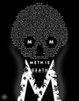 Meth is Death Poster by BlackSheepDesignCell