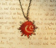 Solar Flare Hand Torched Enamel Necklace by FusedElegance