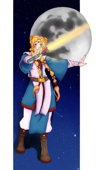 Jedi Sailor Moon by kwilliamsart