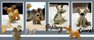 Sculpey Puppies by Colonels-Corner