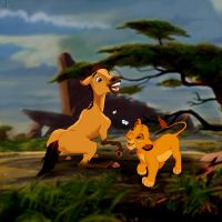 simba meets spirit by l3nbak