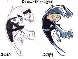 Draw this again Danny Phantom by ZoraSteam