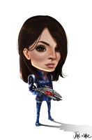 Mass Effect Ashley Chibi by We-Chibi