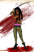 Michonne by spaz-by-design