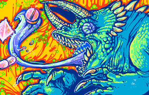 LSD LIZARD by Zenophrenic